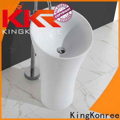 KingKonree free standing wash basin design for hotel