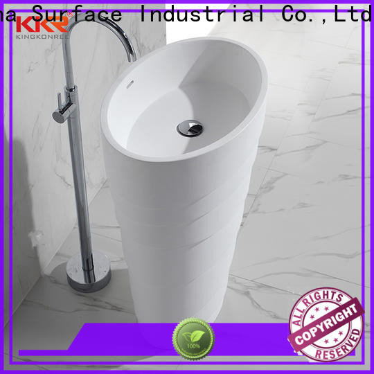 KingKonree pedestal wash basin customized for bathroom