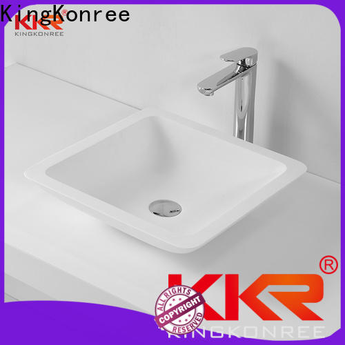 KingKonree above counter vessel sink supplier for hotel