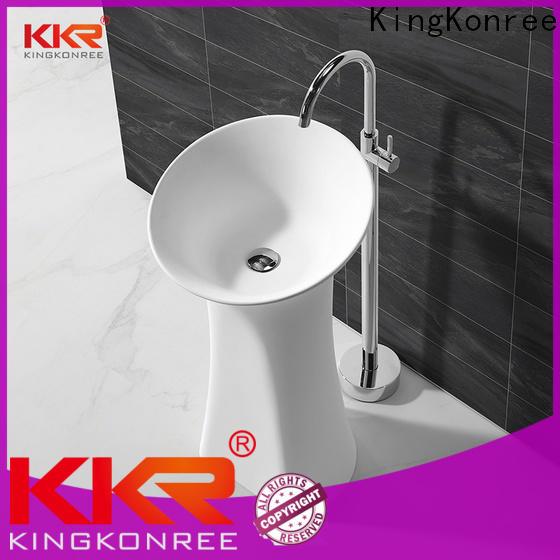 KingKonree thick free standing wash basin manufacturer for bathroom