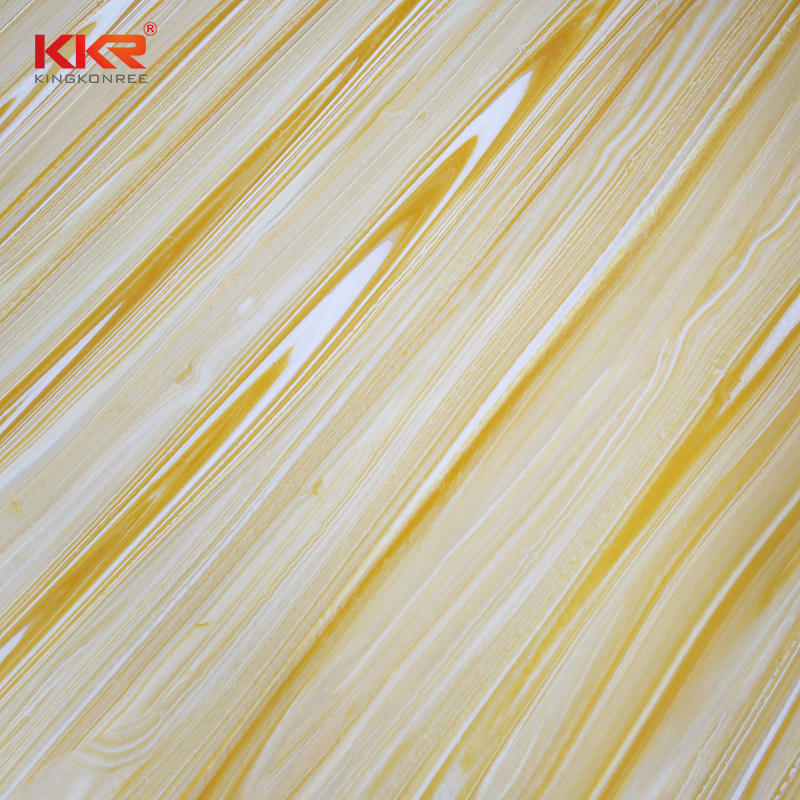 Newly Solid Surface Stone Resin Translucent Sheets KKR-A106
