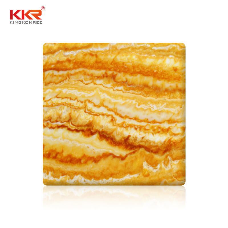 Marble Design Translucent Solid Surface Sheet KKR-A110