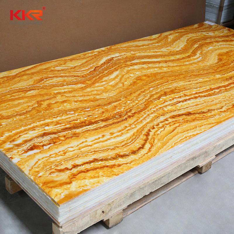 Marble Design Translucent Solid Surface Sheet KKR-A110