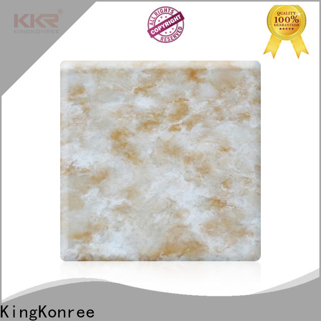 KingKonree solid surface sheets for sale directly sale for hotel