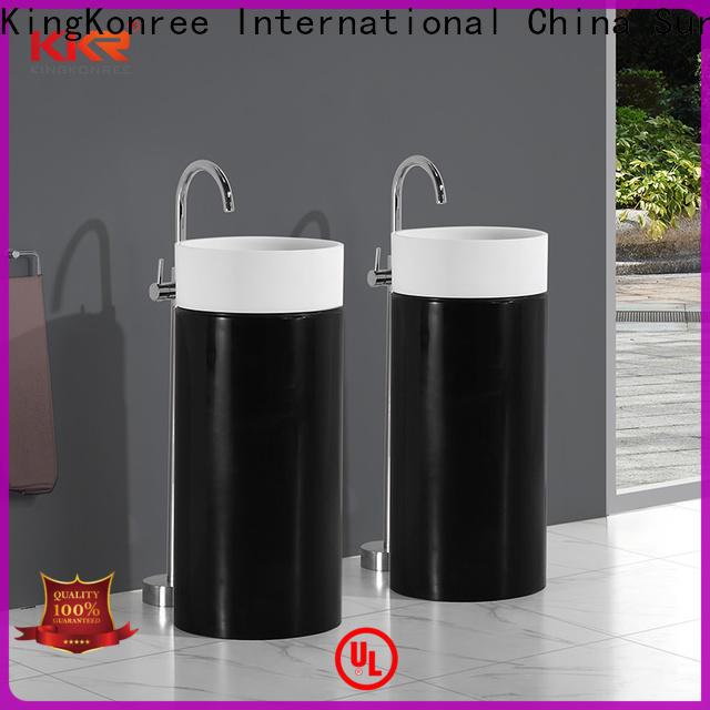 rectangle pedestal sink manufacturer for hotel