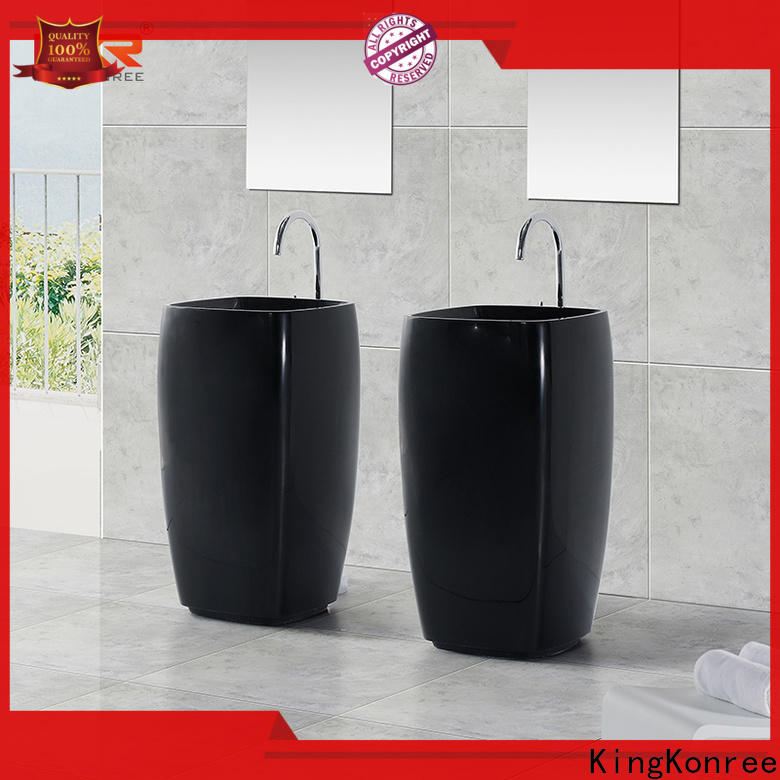 KingKonree artificial freestanding basin manufacturer for motel