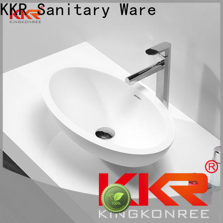 standard above counter vanity basin customized for hotel