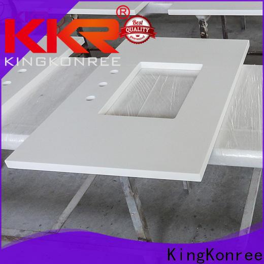 KingKonree back solid surface bathroom countertops supplier for hotel