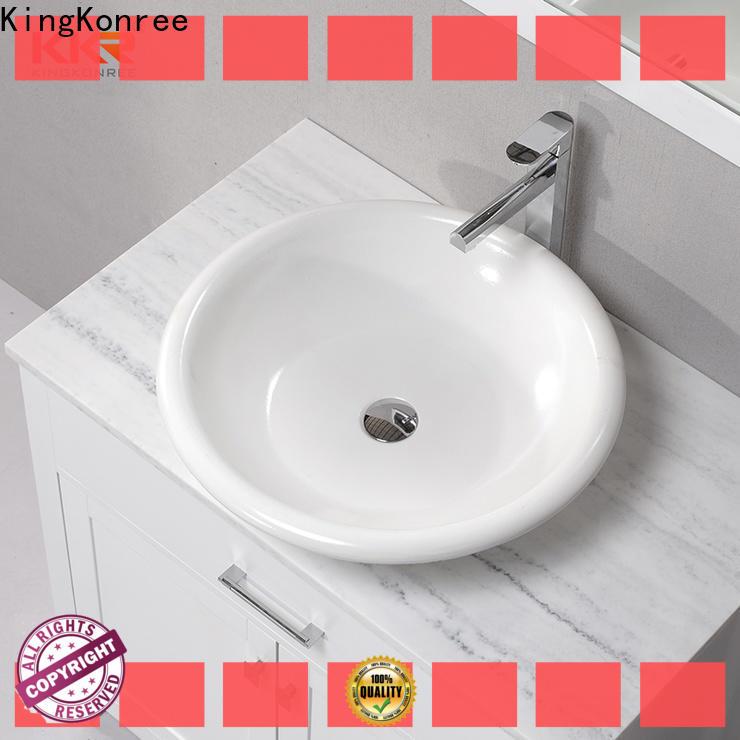 KingKonree excellent top mount bathroom sink manufacturer for room
