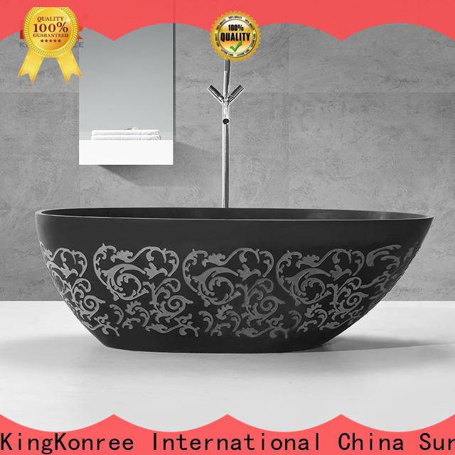 KingKonree hot-sale solid surface freestanding tub free design for shower room