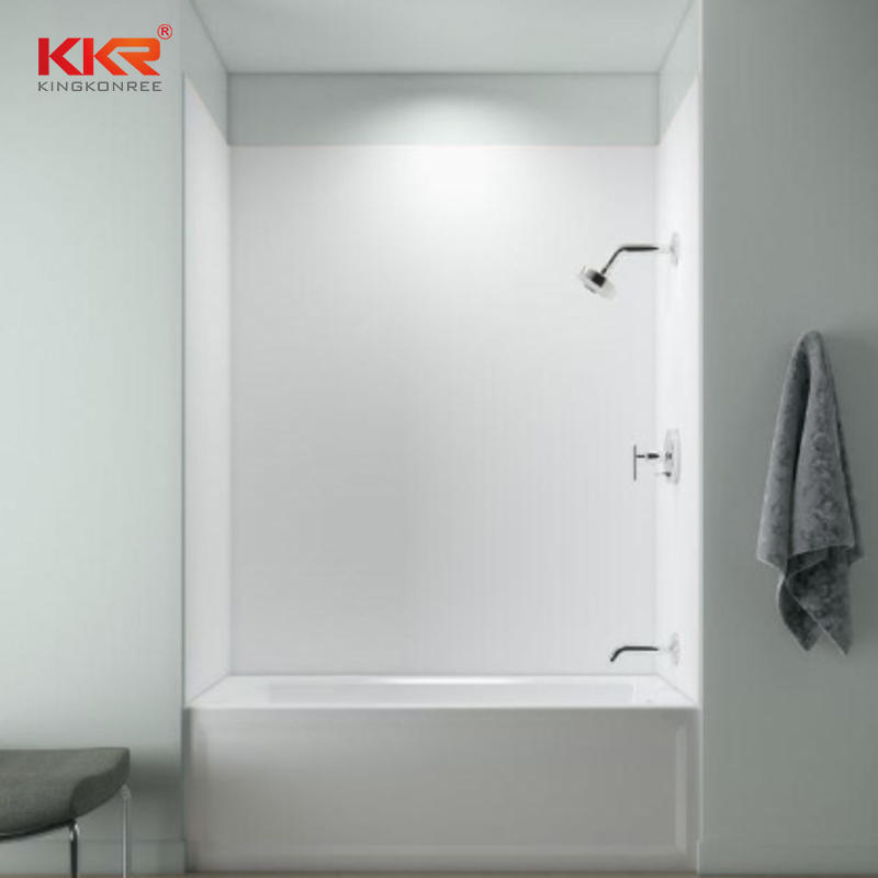 Customized Solid Surface Marble Textures Bathroom Shower Panel