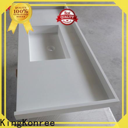 KingKonree resistant solid surface bathroom countertops supplier for bathroom