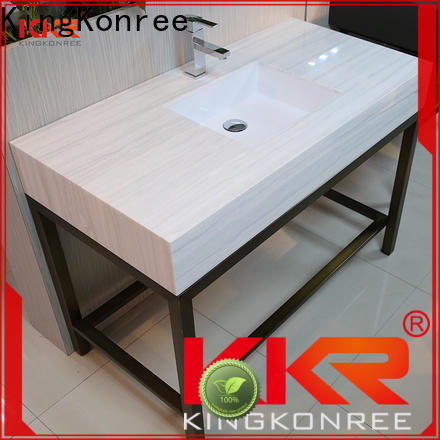 KingKonree marble hard surface countertops customized for home