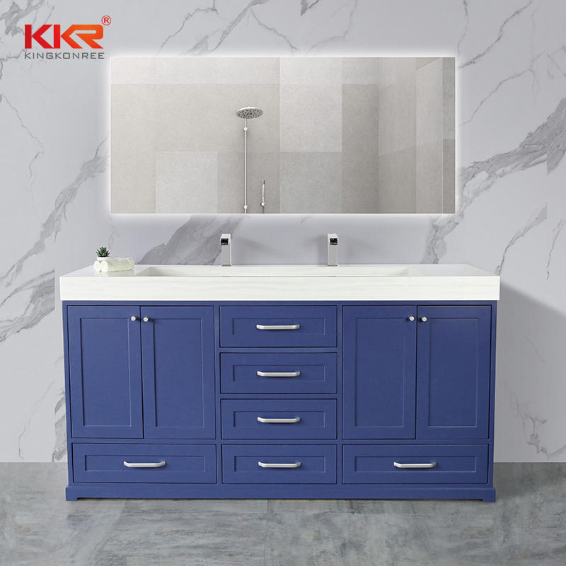 Hot Selling Solid Surface Stone Cabinet Basin 01