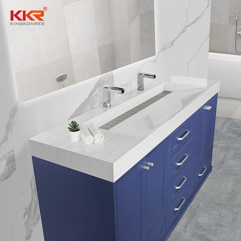 Hot Selling Solid Surface Stone Cabinet Basin Bathroom Cabinet 01