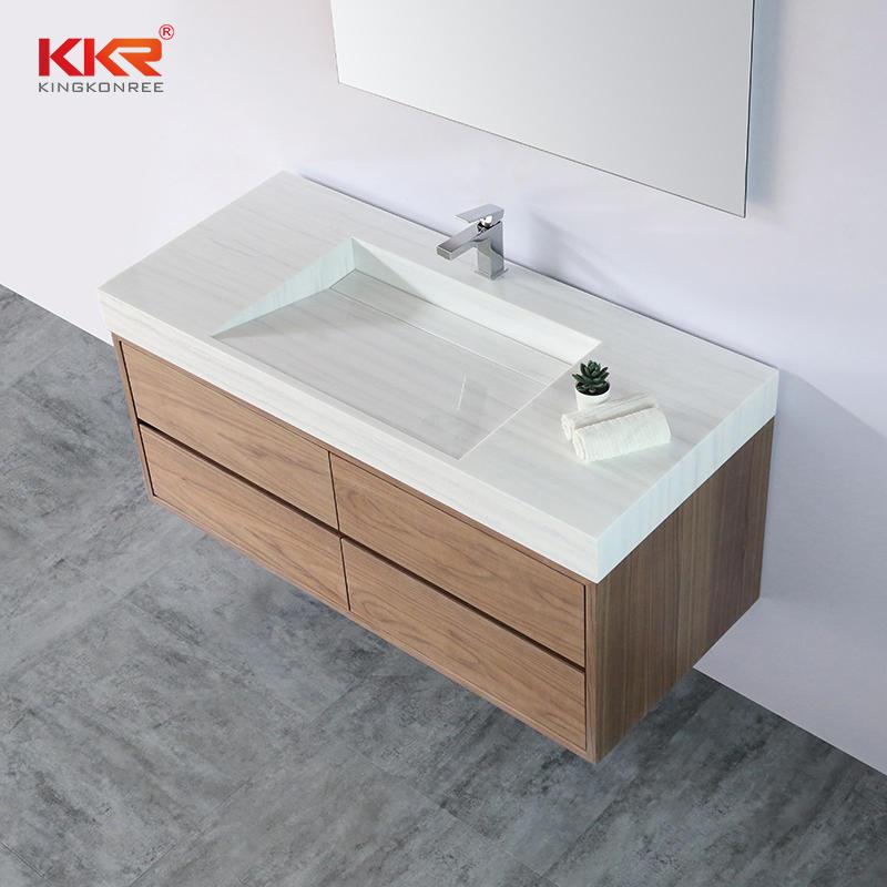 European Market Popular Solid Surfae Bathroom Vanity Wash Basin Cabinet Basin 03
