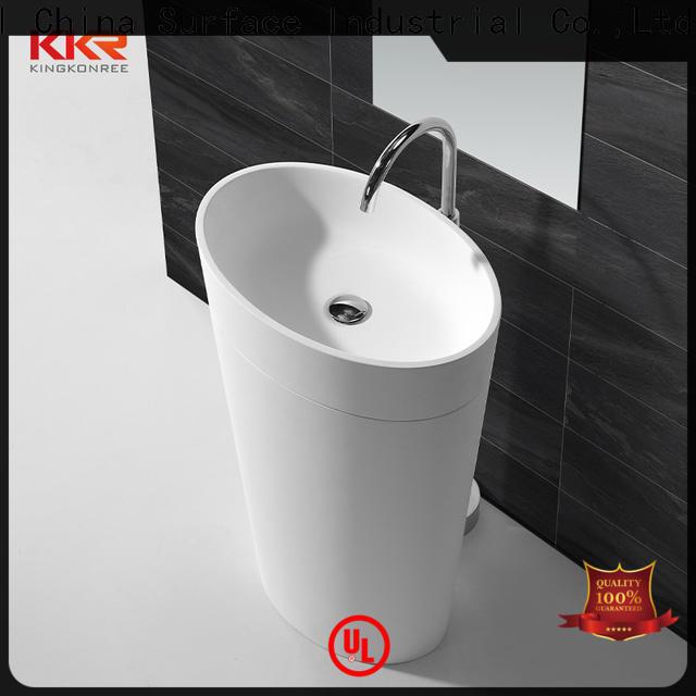 resin bathroom sink stand design for motel