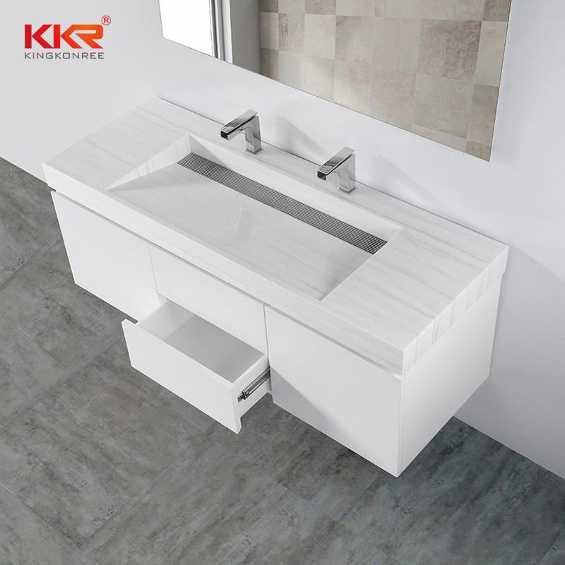 High Quality Bathturoom Wall Hung Wooden Cabinet KKR-CAB004