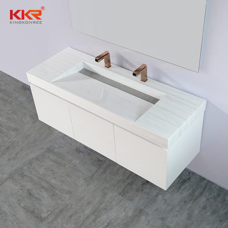High Quality Bathroom Wall Hung Wooden Cabinet KKR-CAB004