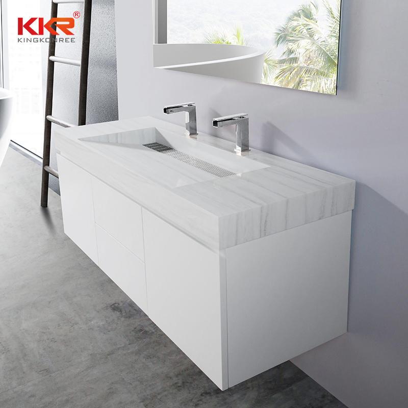 KingKonree sink and cabinet combo latest design for motel
