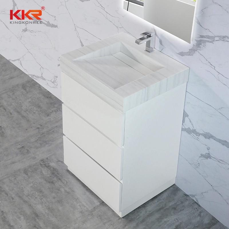 Customized Design Bathroom Wooden Cabinet With Vanity Basin KKR-CAB001-USVS-24