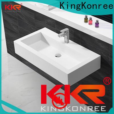 KingKonree resin stainless steel wash basin design for bathroom