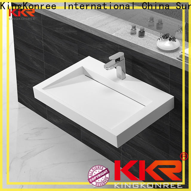 KingKonree wall hung bathroom basins customized for bathroom