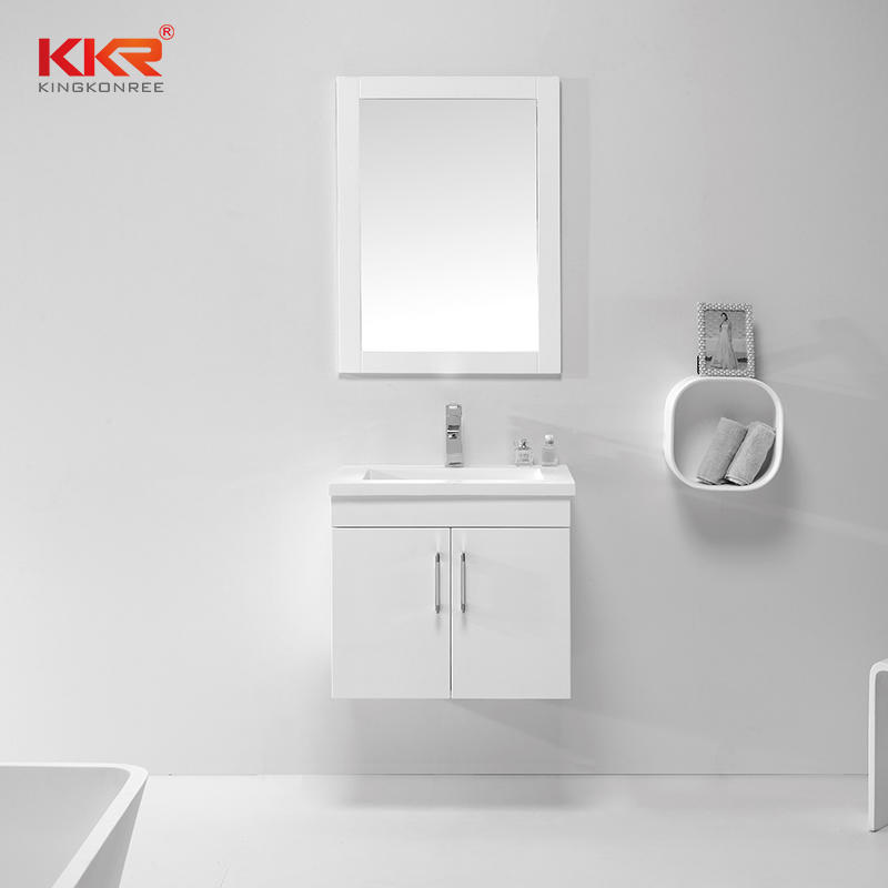 White Paint Wall Hung Bathroom Vanity Cabinet KKR-701CH