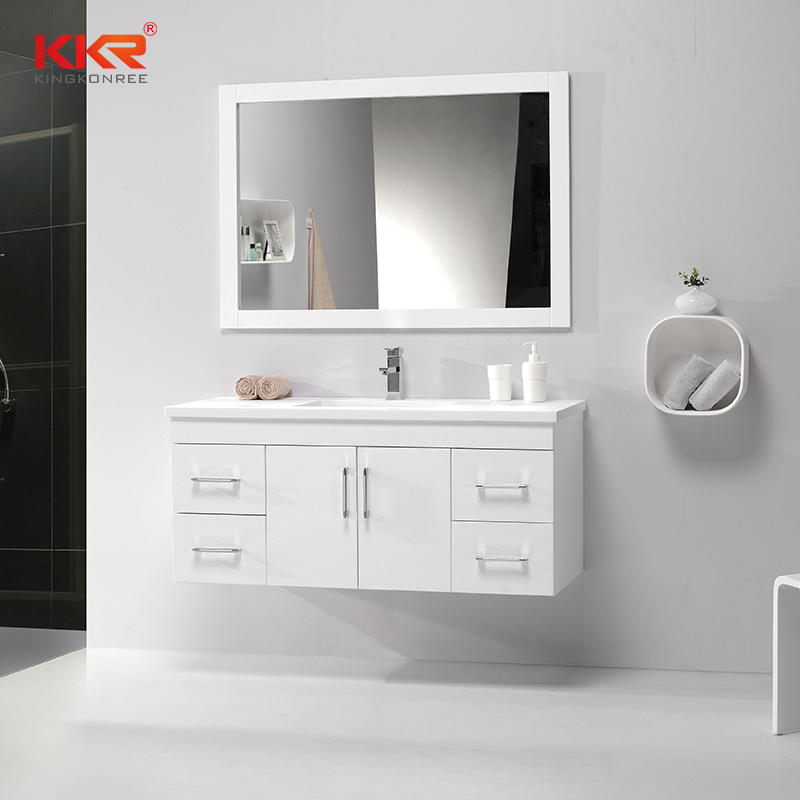 High Quality Wall Hang Bathroom Furniture Wooden Cabinet KKR-703CH