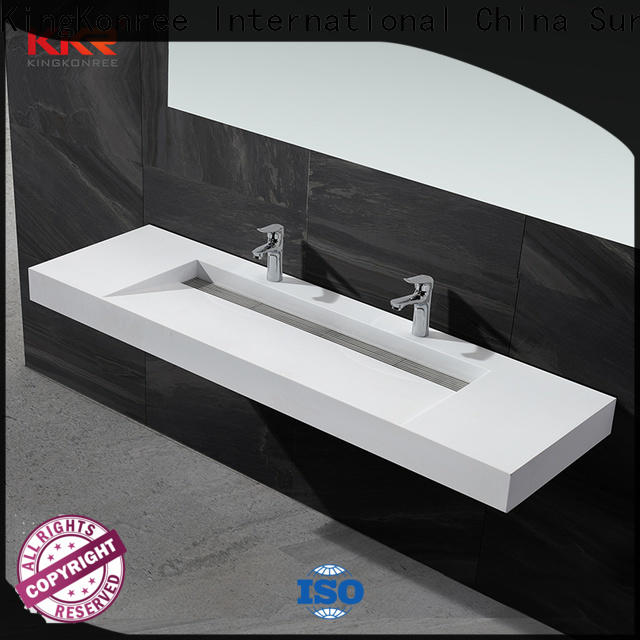 KingKonree luxury wall hung basin manufacturer for toilet