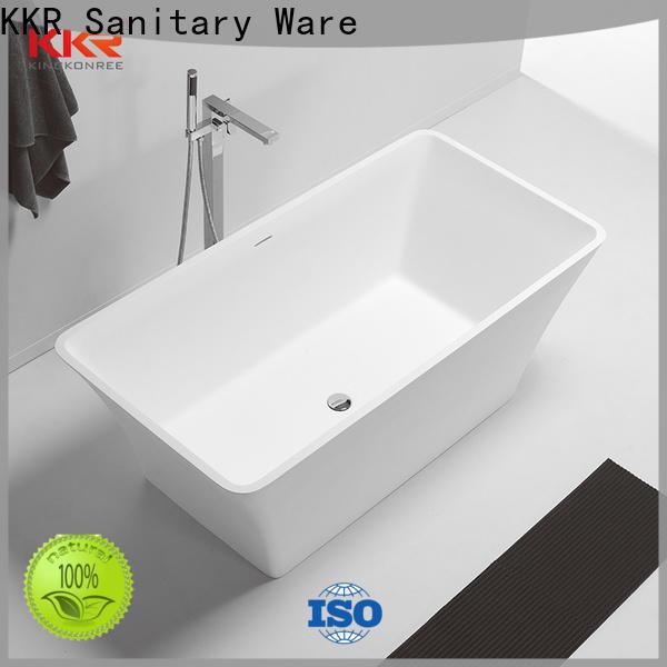 KingKonree reliable stone resin bathtub free design for family decoration