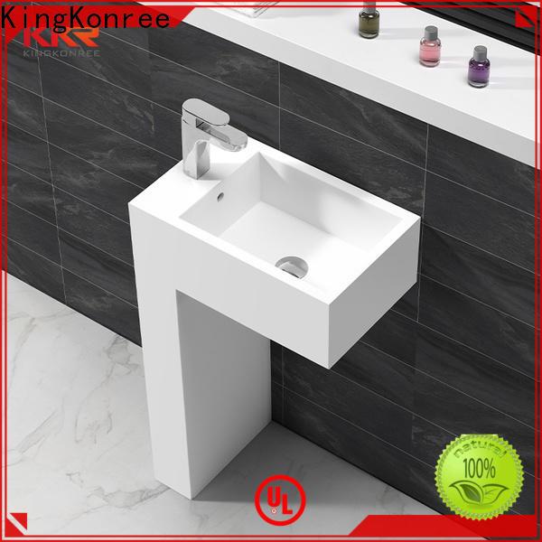 KingKonree gel stand alone bathroom sink design for hotel