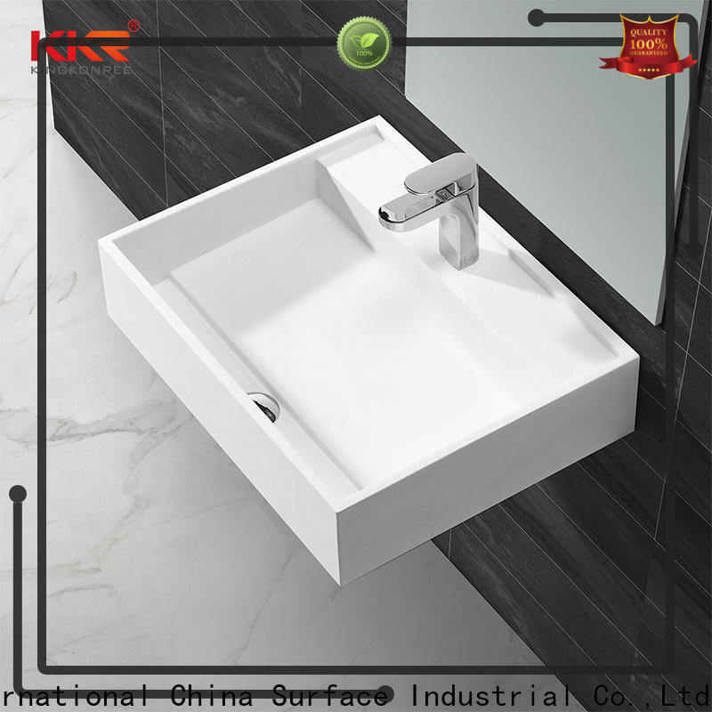 KingKonree slope toilet wash basin sink for hotel