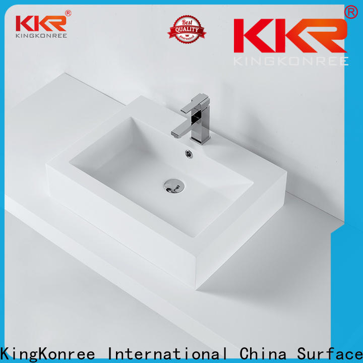 reliable above counter basins design for restaurant