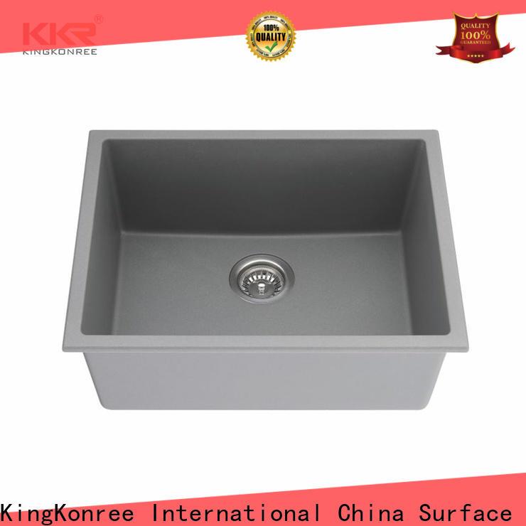 KingKonree black undermount sink manufacturer for hotel