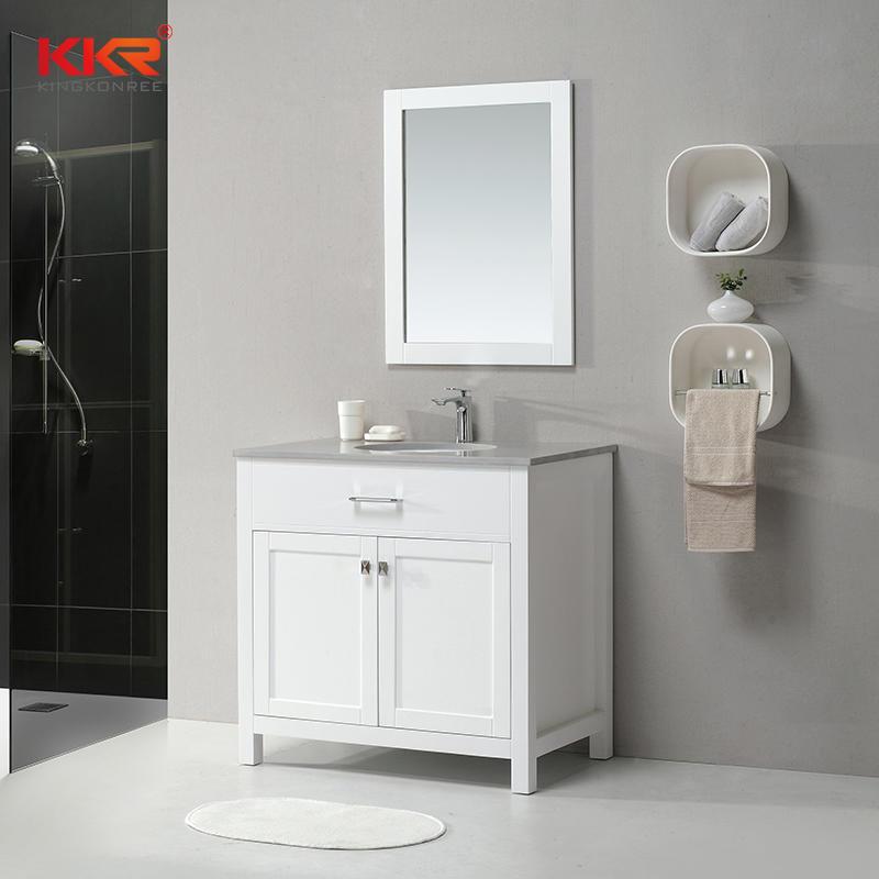 Modern Design Vanity Bathroom Cabinet Match for Vanity Countertop KKR-706CF