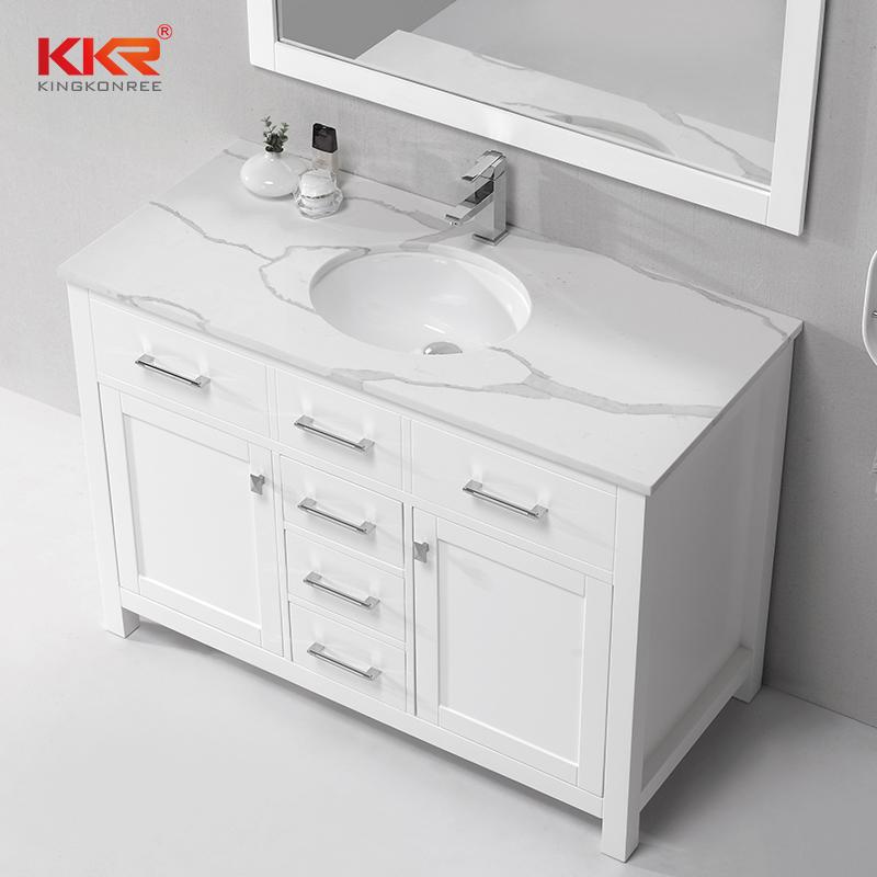 Hot Sale European Style Design Marble Vanity Bathroom Cabinet KKR-707CF