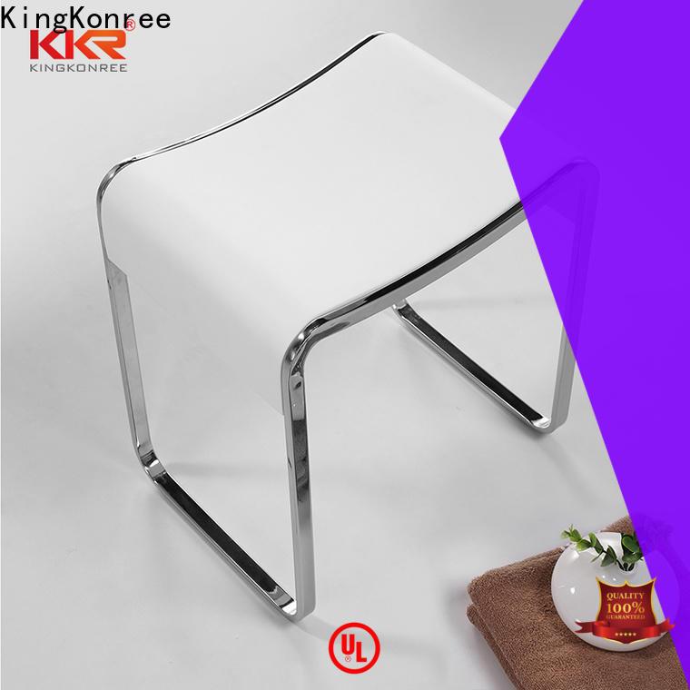 KingKonree bathroom shower stool seat design for hotel