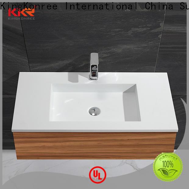 KingKonree grey cabinet below washbasin customized for motel