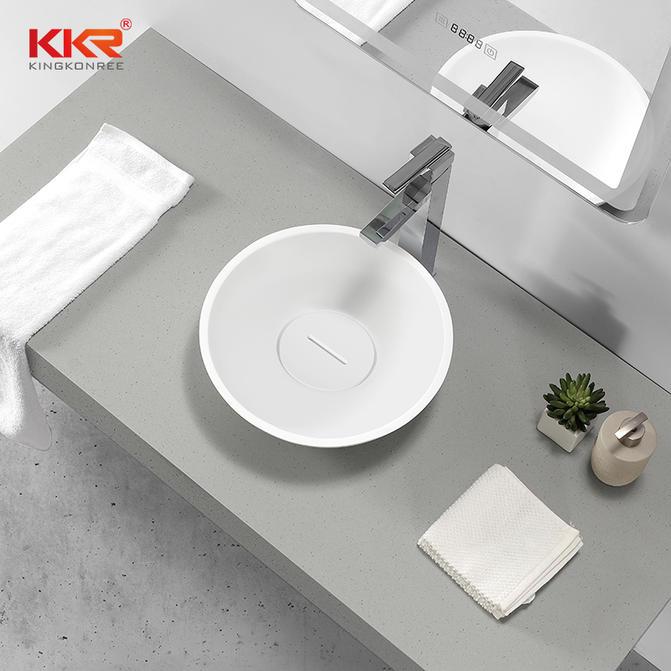 Hot Sales Round Solid Surface Wash Basin European Design Above Counter Basin KKR-1513-2-A