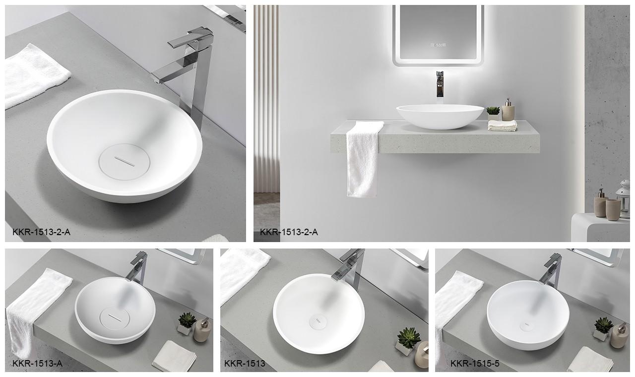 durable above counter vanity basin cheap sample for restaurant-7