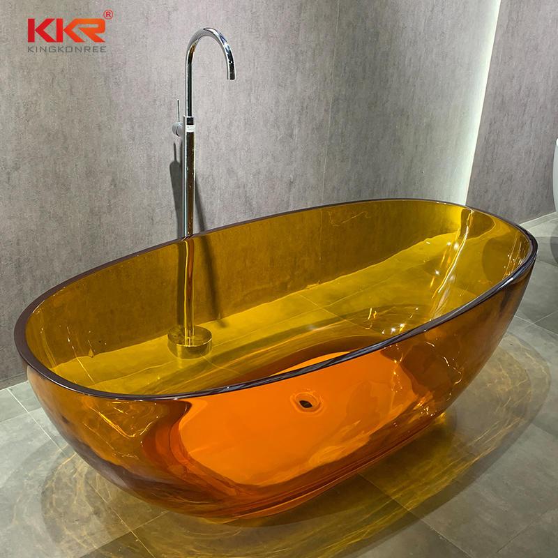 Composite Resin Stone Wholesale Solid Surface Freestanding Translucent Bathtub