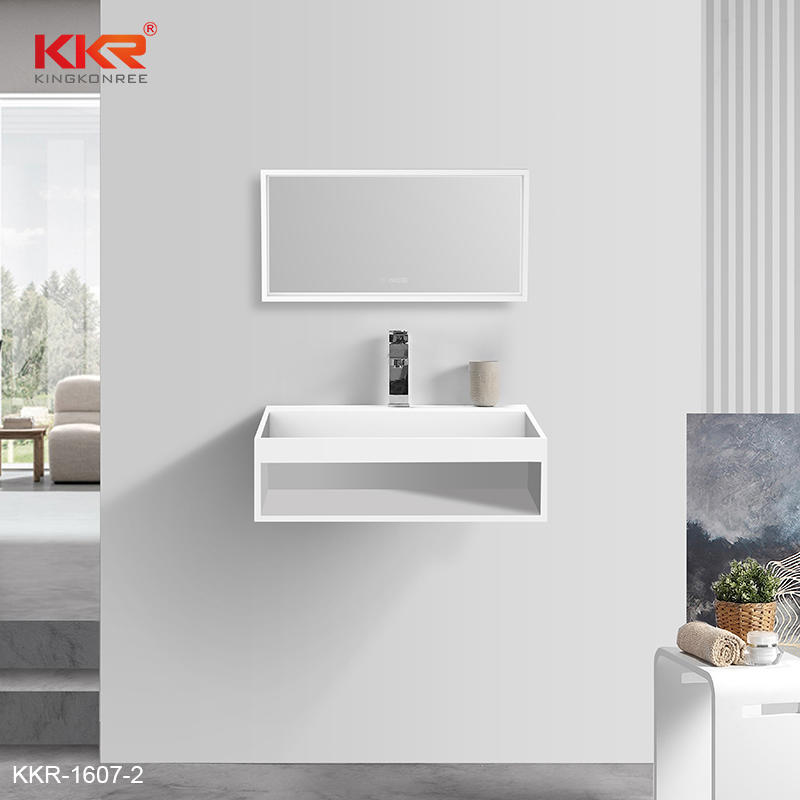 European Design Slopef Solid Surface Bathroom Wash Hand Basin KKR-1607