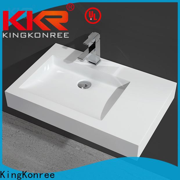 KingKonree double wall mount sink customized for bathroom