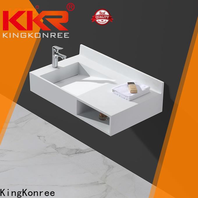 KingKonree fashion wall mount bath sink sink for hotel