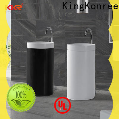 artificial pedestal wash basin customized for home
