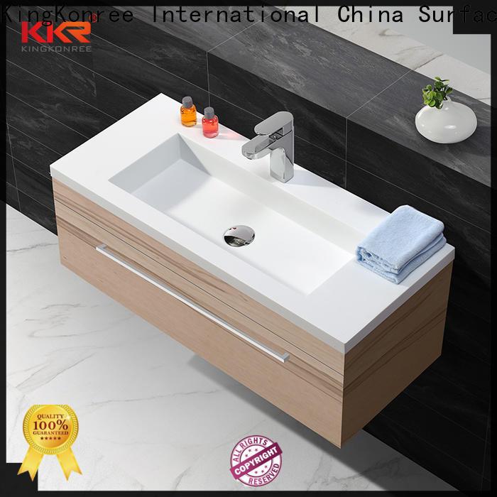 KingKonree under basin bathroom storage design for motel