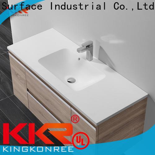 KingKonree resin bowl basin with cabinet customized for hotel