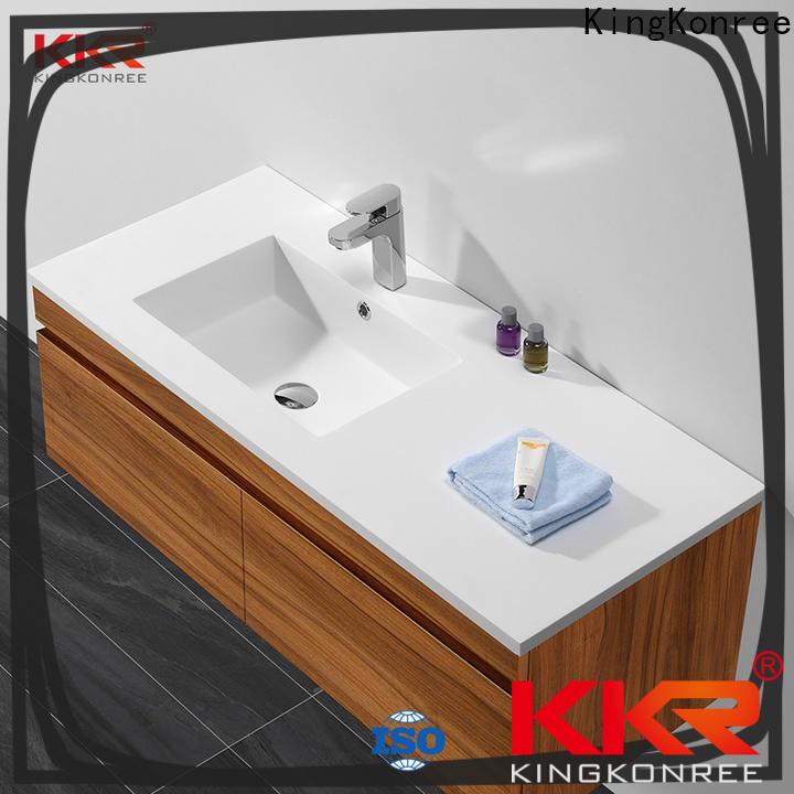 KingKonree dark basin and cabinet supplier for toilet