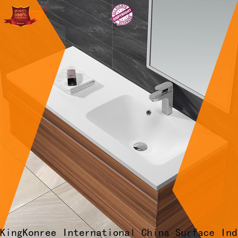 KingKonree straight table top basin cabinet sinks for toilet